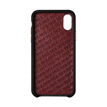Load image into Gallery viewer, Cover n Go_iPhone X Italian Leather Case - Black(RED)