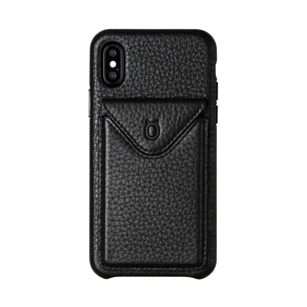 Cover n Go_iPhone XS Italian Leather Case - Leather Black