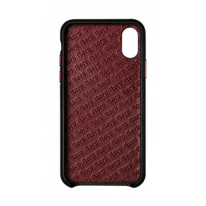 Cover n Go_iPhone XS Italian Leather Case - Black(RED)