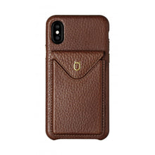 Load image into Gallery viewer, Cover n Go_iPhone X Italian Leather Case - Chestnut Brown