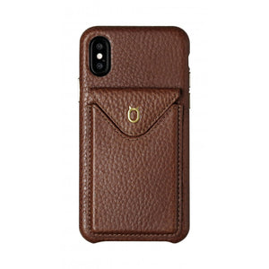 Cover n Go_iPhone X Italian Leather Case - Chestnut Brown