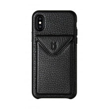Load image into Gallery viewer, Cover n Go_iPhone X Italian Leather Case - Leather Black