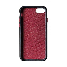 Load image into Gallery viewer, Cover n Go_ iPhone 7 / 8 Italian Leather Case - Black(RED)