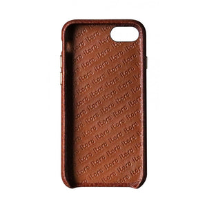 Cover n Go_ iPhone 7 / 8 Italian Leather Case - Chestnut Brown