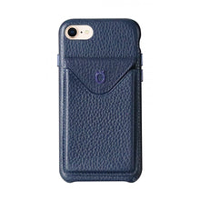 Load image into Gallery viewer, Cover n Go_ iPhone 7 / 8 Italian Leather Case - Sapphire Blue