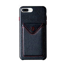 Load image into Gallery viewer, Cover n Go_iPhone 7 / 8 Plus Italian Leather Case - Black(RED)