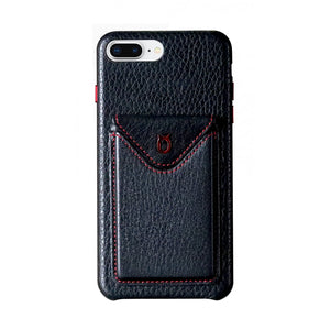 Cover n Go_iPhone 7 / 8 Plus Italian Leather Case - Black(RED)