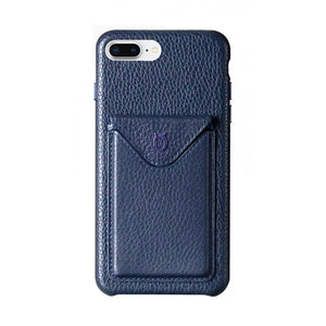 Cover n Go_iPhone 7 / 8 Plus Italian Leather Case - Sapphire Blue