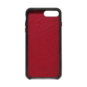 Hide n Go_ iPhone 7 / 8 Plus Italian Leather Case - Black(RED)