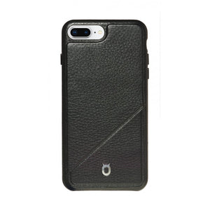Hide n Go_ iPhone 7 / 8 Plus Italian Leather Case - Leather Black