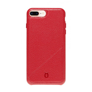 Hide n Go_ iPhone 7 / 8 Plus Italian Leather Case - Burgundy Red