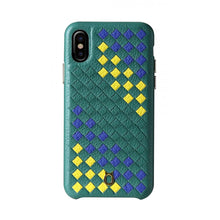 Load image into Gallery viewer, ITALY Leather Weaved Case SE_iPhone X Italian Leather Case - iToro