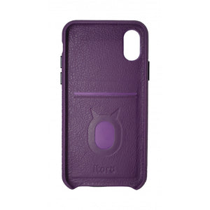 Gorgeous Ribbon Case_iPhone XS Italian Leather Case - Romance Violet