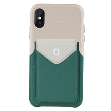 Load image into Gallery viewer, Cover & Go FX _ iPhone X Italian Leather Case - Beige&Green