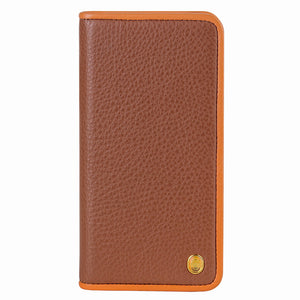 C. Edge Leather Folio_LUX_iPhone X Italian Leather Case - Folio Brown