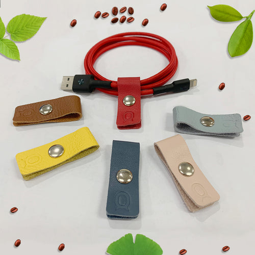 Italian Leather Cable Holder Straps - iToro