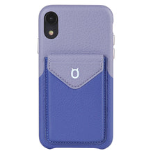 Load image into Gallery viewer, Cover & Go FX _ iPhone XS Italian Leather Case - Blue&Purple
