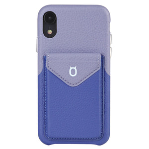 Cover & Go FX _ iPhone XS Italian Leather Case - Blue&Purple