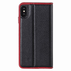 C. Edge Leather Folio_LUX_iPhone XS Italian Leather Case - Folio Black