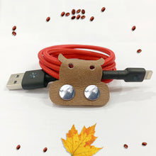 Load image into Gallery viewer, Cow Genuine Leather Cable Holder Straps - Cow Combo1
