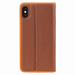 C. Edge Leather Folio_LUX_iPhone XS MAX Italian Leather Case - Folio Brown