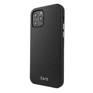 iPhone 12 | 12 Pro Leather Case_ITALY Leather - Classic black