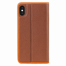 Load image into Gallery viewer, C. Edge Leather Folio_LUX_iPhone XR Italian Leather Case - Folio Brown
