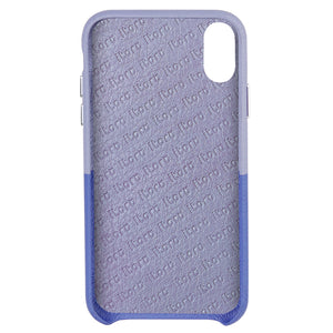 Cover & Go FX _ iPhone X Italian Leather Case - Blue&Purple