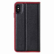 Load image into Gallery viewer, C. Edge Leather Folio_LUX_iPhone X Italian Leather Case - Folio Black