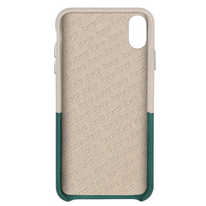 Cover & Go FX _ iPhone XR Italian Leather Case - Beige&Green