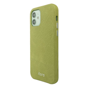 iPhone 12 | 12 Pro Leather Case_ITALY Leather - Fruit green