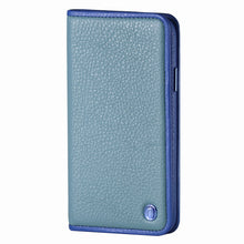 Load image into Gallery viewer, C. Edge Leather Folio_LUX_iPhone XS Italian Leather Case - Folio Blue