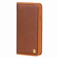 Load image into Gallery viewer, C. Edge Leather Folio_LUX_iPhone X Italian Leather Case - Folio Brown