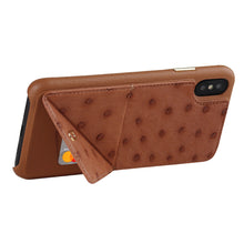 Load image into Gallery viewer, Ostrich Leather Case_ iPhone XS Max Italian Leather Case - iToro