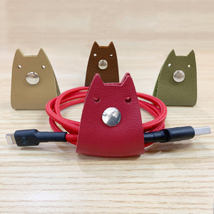 Doggy Genuine Leather Cable Holder Straps - Doggy Combo2
