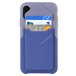Cover & Go FX _ iPhone XS Max Italian Leather Case - Blue&Purple