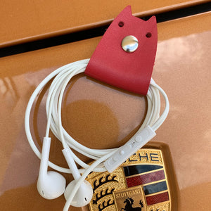Doggy Genuine Leather Cable Holder Straps - Doggy Combo1