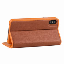 Load image into Gallery viewer, C. Edge Leather Folio_LUX_iPhone XS Italian Leather Case - Folio Brown