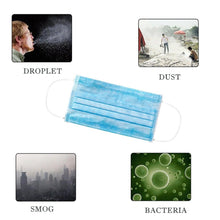 Load image into Gallery viewer, 3-Ply Disposable Efficient Face Mask, Medical Mask, Earloop, UltraLight Weight, Polyester Masks for Personal Health