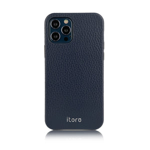 iPhone 12 | 12 Pro Leather Case_ITALY Leather - Navy blue