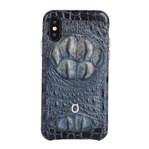 Limited Edition Black Crocodile iPhone 11 Pro Max Case - Croc Skull