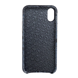 Limited Edition Black Crocodile iPhone XS Case