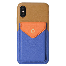 Load image into Gallery viewer, Cover & Go FX _ iPhone X Italian Leather Case - Brown&Blue