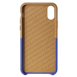 Cover & Go FX _ iPhone XS Italian Leather Case - Brown&Blue