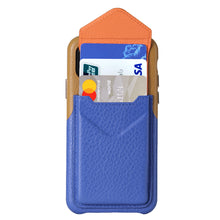 Load image into Gallery viewer, Cover & Go FX _ iPhone XS Italian Leather Case - Brown&Blue
