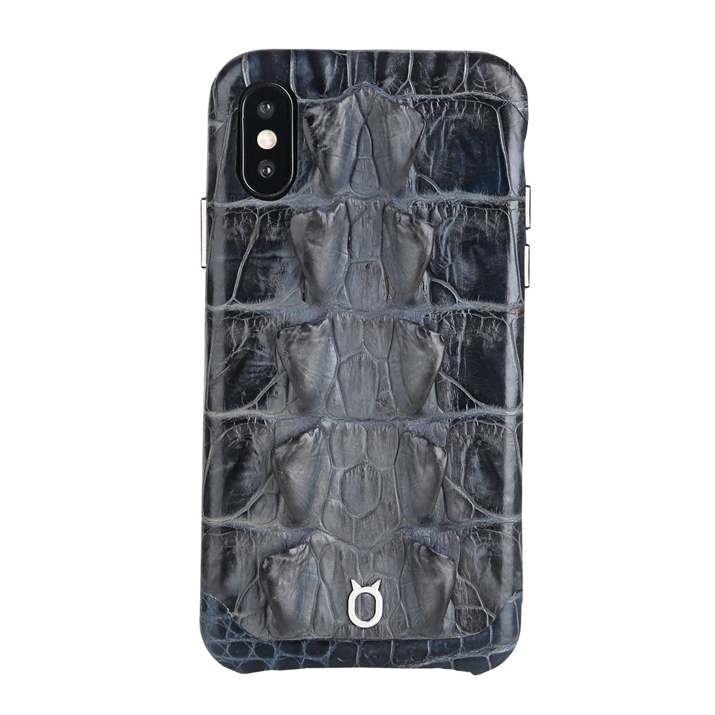 Limited Edition Black Crocodile iPhone XS Case - Croc Tail
