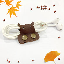 Load image into Gallery viewer, Cow Genuine Leather Cable Holder Straps - Cow Combo2