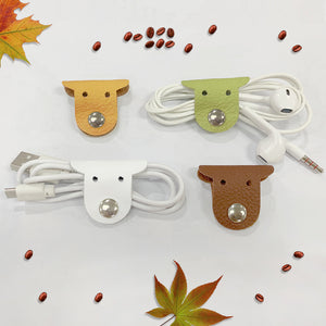 Puppy Genuine Leather Cable Holder Straps - iToro