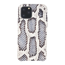 Load image into Gallery viewer, iPhone 11 Pro Italian Python Series Leather Case - White