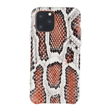 Load image into Gallery viewer, iPhone 11 Pro Italian Python Series Leather Case - Orange